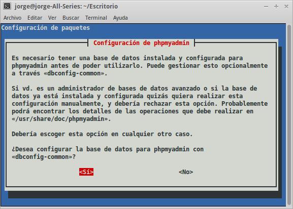instalando phpmyadmin