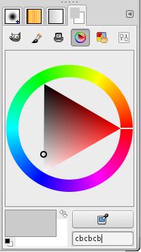 Selector de color en GIMP