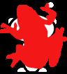 Cara de la mascota de Reddit tapada por la rana de Raddle